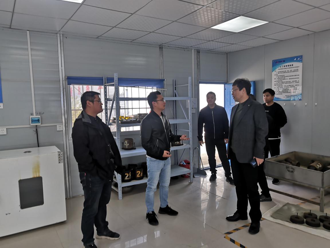 检测科技公司执行董事、经理一行赴上罗高速SLJC-1中心试验室检查指导工作